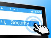 Online Security Indicates World Wide Web And Private