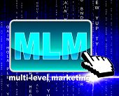 Multi Level Marketing Shows World Wide Web And Multilevel