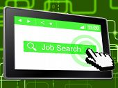 Job Search Represents World Wide Web And Career