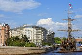 Sailboat Flying Dutchman, Saint Petersburg, Russia