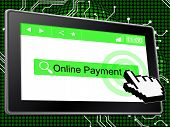 Online Payment Means World Wide Web And Paying