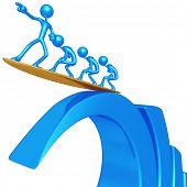 Risk Management Riding Bar Graph Wave