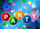 Party Kids Means Fun Cheerful And Youth