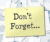 stock photo of reminder  - Don - JPG