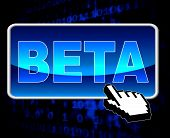 Beta Button Means World Wide Web And Versions