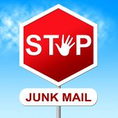Stop Junk Mail Represents E-mail Control And Spam