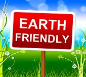 stock photo of ecosystem  - Earth Friendly Indicating Eco - JPG
