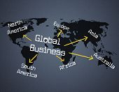 Global Business Shows Planet Globalize And Corporate