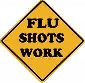 Flu Shots Work Sign