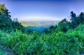 Blue Ridge Parkway National Park Sunset Scenic Mountains Summer Landscape
