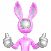 Easter Bunny Two Thumbs Up