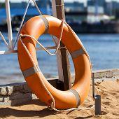 Lifebuoy On Beach