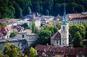 Bern Cityscape. Swiss Capital City. Nydeggkirche (nydegg Church).