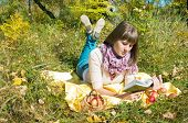 The Girl Reads Outdoors
