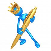 King With Gold Pen