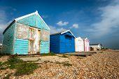 Beach Huts At Hastings
