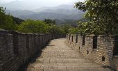 Stairs Going Down The Great Wall Of China