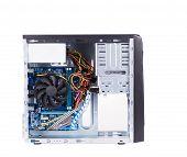 Open PC computer case.
