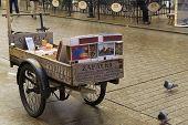 Cart with souvenir matchboxes