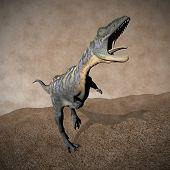 Aucasaurus dinosaur roaring - 3D render