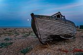 Old Fishing Boat On Beach