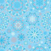 Vector blue snow pattern