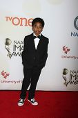 LOS ANGELES - FEB 6:  Miles Brown at the 46th NAACP Image Awards Arrivals at a Pasadena Convention Center on February 6, 2015 in Pasadena, CA
