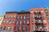 Brooklyn brickwall facades in New York US USA