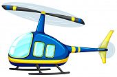 Illustration of a close up helicopter