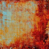 Old texture with delicate abstract pattern as grunge background. With different color patterns: yellow (beige); brown; red (orange); cyan