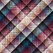 Canvas texture on plaid background.