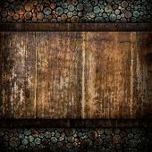 grunge wood board with stumps background