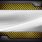 iron plate with warning stripes