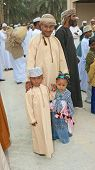 Omani Father and Children