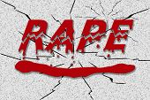 picture of rape  - Word rape in red dripping blood - JPG