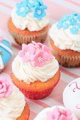 foto of sugarpaste  - delicious cupcakes dessert served for big party - JPG