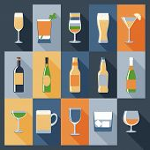 Drink Icons Flat