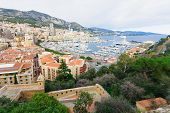 picture of hercules  - View of Monte Carlo and the Hercule  - JPG