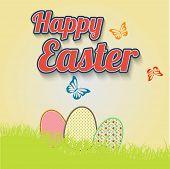 Making leaflet Happy Easter for design vector