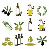 foto of olive shaped  - Food vector icons set  - JPG