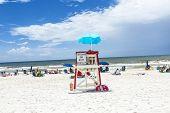 People Enjoy The Beautiful Beach At Niceville