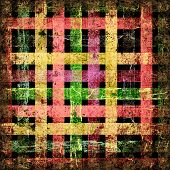 Grunge squares isolated on a black background