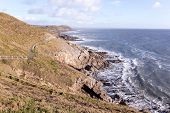 The South Wales Coast Path between Caswell Bay and Langland, on the Gower Peninsula.