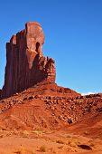 The unique red sandstone cliffs -