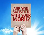 Are You Satisfied With Your Work? card with beautiful day