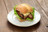 foto of brisket  - barbecue beef brisket sandwich - JPG