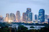 Постер, плакат: Bangkok Night Cityscape