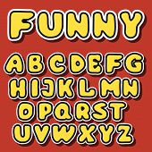Vector English Alphabet In Cartoon Style