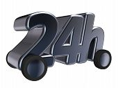 pic of four-wheel drive  - 24h tag on wheels  - JPG