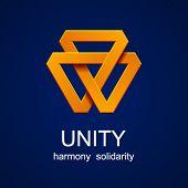 vector unity triangle orange icon